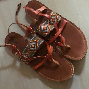 Tribal print sandals size 8